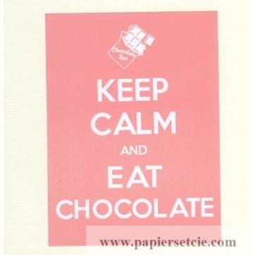"Carte ""Keep Calm and Eat Chocolate"""