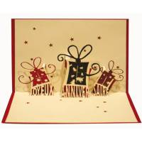 Carte 3 D Kirigami Joyeux Anniversaire Paquets cadeaux