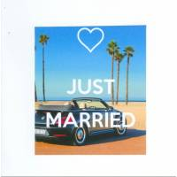 "Carte ""Just married VW et palmiers"""