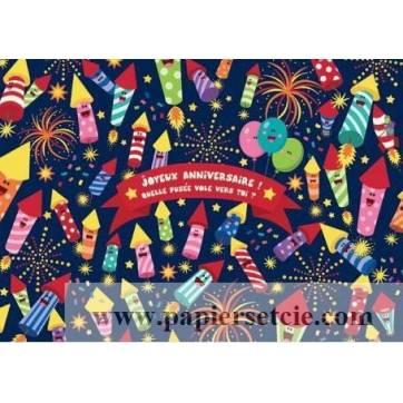 Carte Lali Joyeux Annversaire Quelle fusée vole vers toi?