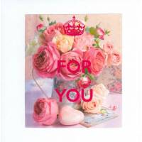 "Carte KC ""For you"" Bouquet de Renoncules"