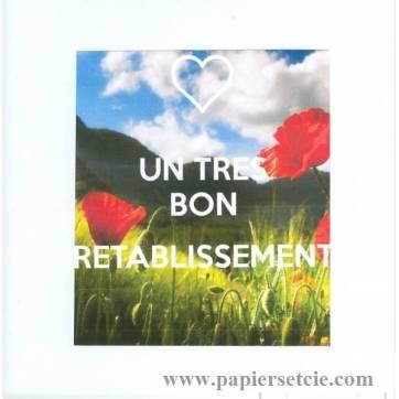 Carte KC Bon rétablissement Champ coquelicots