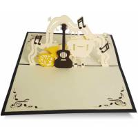 Carte Kirigami Joyeux Anniversaire Jazz