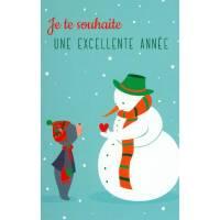 """Carte Alice de Page """"Je te souhaite une excellente année"""""""