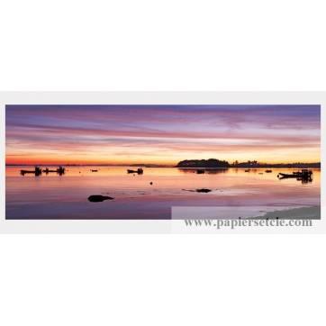 Carte panoramique Frédéric Buxin Carte panoramique Frédéric Buxin Séné coucher de soleil Port de Badel
