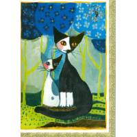 Carte double Rosina Wachtmeister Chatte et Chaton