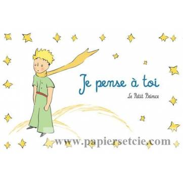 "Carte Le Petit Prince ""Je pense à toi"""