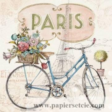 Carte vintage Lisa Audit Paris à Bicyclette