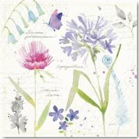 Carte vintage aquarelle Anne Tavoletti Agapanthes