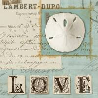 Carte vintage Journal de Plage Love