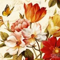Carte vintage Lisa Audit Poésie florale