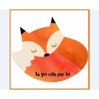"Carte artisanale simple Petit Renard ""Un gros calin pour toi..."""