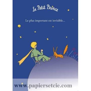 """Grande Carte Le Petit Prince """"Le plus important est invisible"""""""