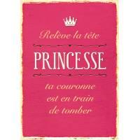 "Carte Humour Vintage ""Relève la tête Princesse..."""