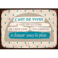 "Carte Citation Vintage  ""L'Art de vivre..."
