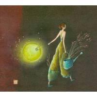 Carte double Gaelle Boissonnard  14 x 15,5 L'arrosoir et la lanterne