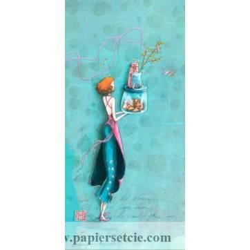 Carte double Gaelle Boissonnard  21 x 10,5 Les gateaux en bocaux