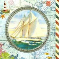 Carte d'art Gwenaëlle Trolez Voilier