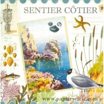 Carte d'art Gwenaëlle Trolez Sentier Côtier