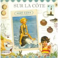 Carte d'art Gwenaëlle Trolez Sur la Côte