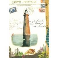 Carte d'art Gwenaëlle Trolez Phare Minot