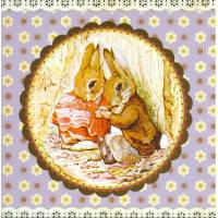 Carte d'art Gwenaëlle Trolez Peter Rabbit et le Pique Nique