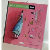 """Calendrier 2018 16 x 16 Gaëlle Boissonnard """"Les feuilles dans le vent"""""""