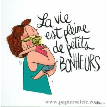 """Carte Mathou """"La vie est pleine de petits bonheurs"""""""
