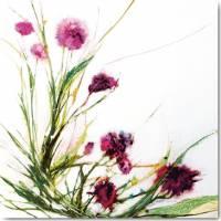 Carte vintage Jan Griggs Fleurs dans le vent