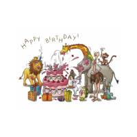 Carte Sophie Turrel 10,5 x 15 Happy Birthday Le Gateau