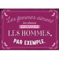 """Carte Citation Humour Vintage """"Les femmes aiment les choses simples""""..."""