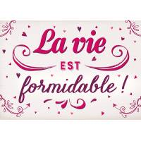"Carte Citation Vintage ""La vie est formidable!"""