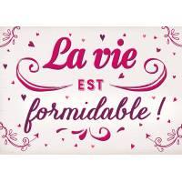 """Carte Citation Vintage """"La vie est formidable!"""""""
