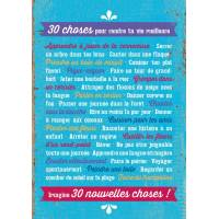 """Carte Citation Vintage """"30 choses pour te rendre la vie meilleure"""""""