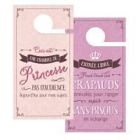 "Pancarte Panneau de Porte Humoristique ""Princesse"""