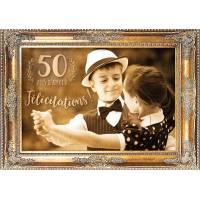 """Carte """"Félicitations pour vos 50 ans de Mariage"""""""