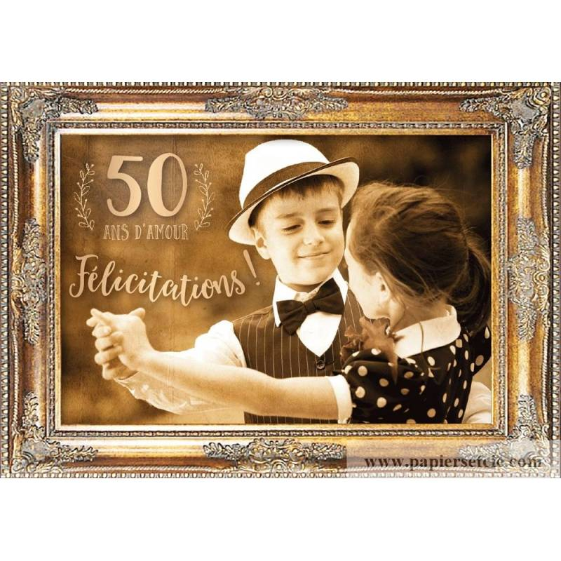 Carte Felicitations Pour Vos 50 Ans De Mariage