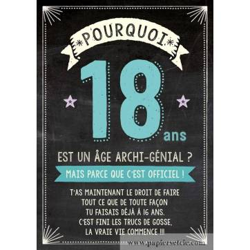 carte double bon anniversaire pourquoi 18 ans. Black Bedroom Furniture Sets. Home Design Ideas