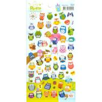 Stickers Chouettes pour papeterie, scrapbooking