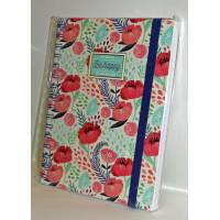 "Cahier LEGAMI A5 à spirales ""Be Happy"" Coquelicots"