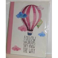 "Cahier LEGAMI B5 ""Follow your Dreams"" 100 pages"