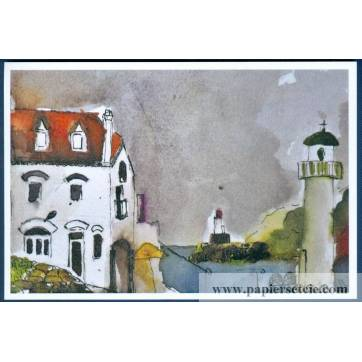 Carte Marion Kerignard Belle Ile Port de Sauzon Phare