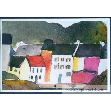 Carte Marion Kerignard Belle Ile Sauzon et Maison rose