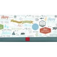 """Enveloppe cadeau """"Happy Birthday"""" Voyage"""