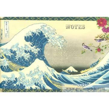 Carnet Livre d'Or Gwenaëlle Trolez Vagues Estampe japonaise