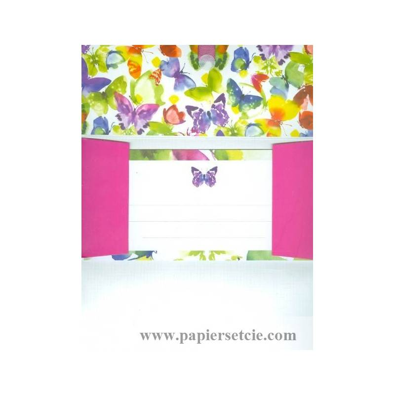 enveloppe cadeau bon anniversaire papillons multicolores. Black Bedroom Furniture Sets. Home Design Ideas