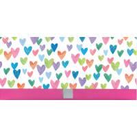 Enveloppe cadeau Bon Anniversaire Coeurs à paillettes