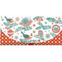 Enveloppe cadeau Noël Fin d'Année et Rouges gorges