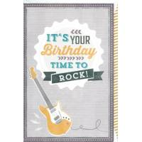 """Carte double """"It's your Birthday, Time to Rock!"""""""