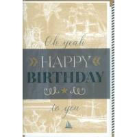 """Carte double """"Oh yeah, Happy Birthday to you"""""""